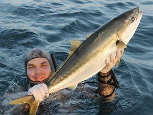 Подводный охотник с лакедрой