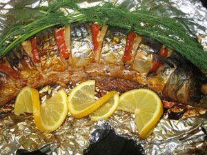 запечённая в фольге рыба