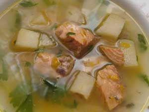 суп из консервов горбуши