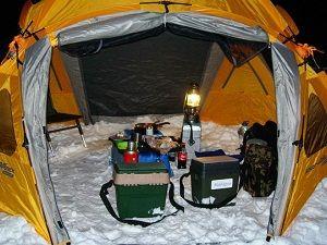 Внутреннее оснащение палатки
