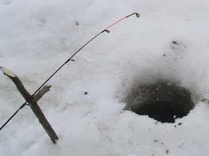 Оснастка зимнего фидера для ловли со льда